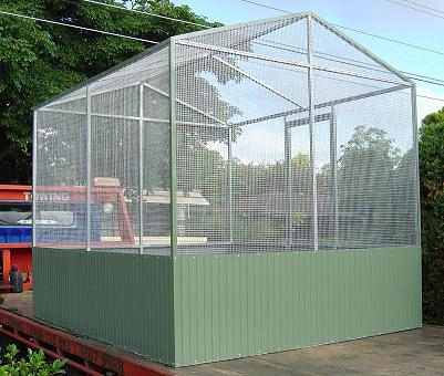 Conventional Aviary With Skirt & Wire Roof